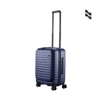 LOJEL CUBO 21吋登機箱 海軍藍【五福居家生活館】前開擴充行李箱