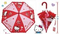 大賀屋 正版 HELLO KITTY 雨傘 童傘 陽傘 小雨傘 兒童雨傘 直傘 蕾絲傘 小孩傘 KT T00011874