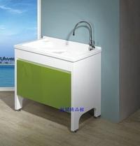 ╚楓閣☆精品衛浴╗新款台製人造石洗衣槽浴櫃組(活動式洗衣板)--90cm