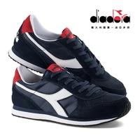 【巷子屋】義大利國寶鞋-DIADORA迪亞多納 CAMARO 男款原廠經典復古鞋 [C0522] 深藍