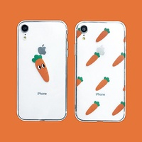 BTS/Bangtan Boys carrot mobile phone case for iPhone8 Apple x transparent shell all-inclusive shatte