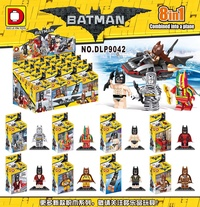 Duo Lepin DLP9042 Rainbow batman zebra Chouchoule Assembly ji mu ren. Toy Compatible