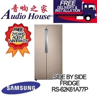 SAMSUNG RS-62K61A77P/SS 620L SIDE BY SIDE FRIDGE ***2 YEARS SAMSUNG WARRANTY***