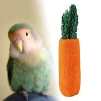 Mangouu นกแก้วของเล่นของเล่นรูปนกแครอท - รูปร่างของเล่นเคี้ยวนกแก้วของเล่นเหมาะสำหรับนกแก้วและนก