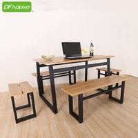 《DFhouse》英式工業風-餐桌+2雙人餐椅+2單人餐椅