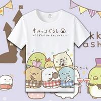 角落生物T恤 夏兒童短袖T恤 二次元 動漫 周邊 可愛短袖衣服 童裝 親子裝 情侶裝 墻角生物