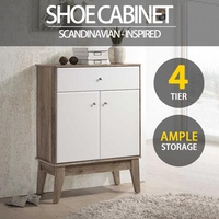 [FREE DELIVERY,INSTALLATION]  SO Cevo 4 Tier Shoes Cabinet  Tall Boy