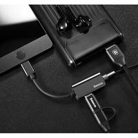 倍思 TypeC 轉 3.5mm耳機 Type C充電 同時進行 轉接頭 分接線 紅米5 Plus Mate 10
