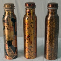 COPPER WATER BOTTLE COLORED