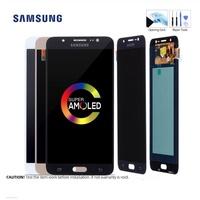 5.5 ''AMOLED จอ LCD แบบดั้งเดิมสำหรับ Samsung Galaxy J7 2016 จอแสดงผลหน้าจอสัมผัสที่มีกรอบสำหรับ SAMSUNG J7 2016 J710 J710F จอแสดงผล #2
