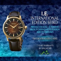 SEIKO INTERNATIONAL EDITION PRESAGE AUTOMATIC COCKTAIL TIME DARK BROWN LIMITED EDITION 8000 PCS SRPD36J1