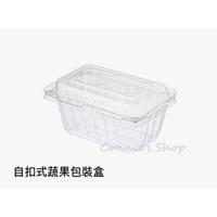 【自扣式蔬果盒-有孔】PET盒 水果包裝盒 塑膠外帶盒 1斤裝番茄盒 1斤裝櫻桃盒 1斤裝草莓盒 自扣式 蔬果PET盒