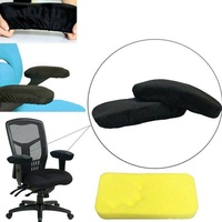 2 Pieces Set Ergonomic Memory Foam Chair Armrest Pad, Rest Comfy RestOffice Chair RestArm Rest Cover for Elbows and Forearms Pressure Relief