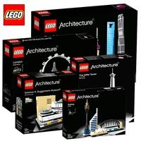 樂高拼裝積木玩具建筑系列埃菲爾鐵塔倫敦巴士上海長城巴黎21044