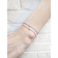 redLine Pure 0.1克拉十分鑽 18K金 白金 紅繩鑽石手鍊 附保卡-FrLavande法國巴黎代購