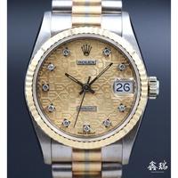 Rolex 勞力士 DATEJUST 68279 BIC 彩虹錶帶 31MM 原廠電腦鑽石面盤 停產表款