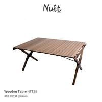 【努特戶外用品】 NTT28 努特NUIT 木匠櫸木蛋捲桌 90 x 60 快速可搭起 鋁捲桌 木捲桌