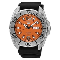 (Seiko) Seiko 5 Sports Automatic Mens Watch, Baby Monster, Orange Dial, Made in Japan - SRPB39J1-...