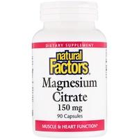 Natural Factors, 檸檬酸鎂,150毫克,90粒膠囊