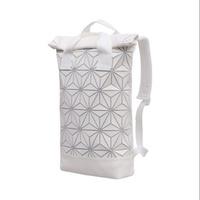 Matte White Mesh Adidas x Issey Miyake BAOBAO Roll Top Backpack / Diaper Bag