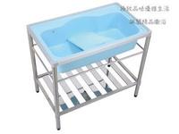 |楓閣精品衛浴|台製人造石洗衣槽不銹鋼架組(活動式洗衣板)90cm