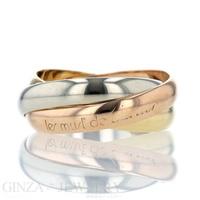 Cartier卡地亞K18YG WG PG三黄金環三位一體環設計750戒指11號 everydaygoldrush jewelry shop