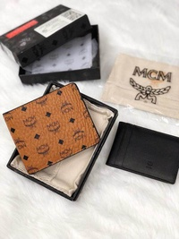 MCM wallet original classic men's business casual multi-card crotch compartment brown