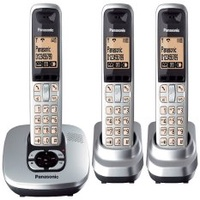 (REFURBISHED) As Good As NEW! Panasonic KX-TG6423 Dect 6.0 Digital Cordless Phone with 3 Handsets (EXPORT).