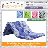 Viro Lion Foldable Foam Mattress 3"