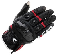 3 Color RS TAICHI RST410 Summer Leather Perforated Carbon Fiber Motorcycle Gloves Touch Screen