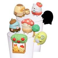 大賀屋 日貨 角落生物 盒玩 擺件 裝飾 杯緣子 療癒 公仔 娃娃 精緻 SAN-X 正版 授權 J00030513
