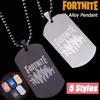 Fortnite Battle Royale Necklaces Long Chain Stainless Steel Necklace Pendants Trendy Jewelry for Women and Men Fortnite Fans