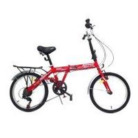 ALEOCA จักรยานพับได้ รุ่น Esecuzion ล้อ 20 นิ้ว, 6 สปีด (สีแดง) พร้อมไฟท้าย