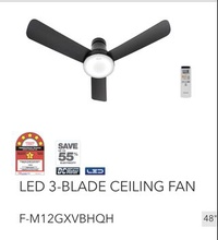 "🚚 Panasonic LED 3 Blade Ceiling Fan F-M12GX (48"")"