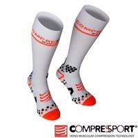 瑞士Compressport運動機能壓縮-V2長襪 (白)