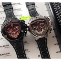Lamborghini(藍寶堅尼)  金典男錶 904L圈精鋼 銀色 皮帶腕錶