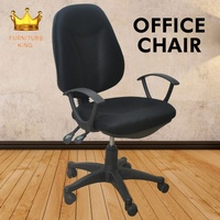 OfficeChair/ Ergonomic Chair / Study and Office Desk Set / Modern Study Chair/ BlackColor