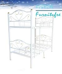 ADDHOME  เตียงเหล็ก 3.5 ฟุต 2 ชั้น รุ่นแบบถอดแยกเป็นเตียงเดียว ( สีขาว)