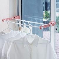 現貨◎創意多功能窗戶衣架 萬用陽台曬衣架晾衣架 小型固定曬衣架 防風衣架