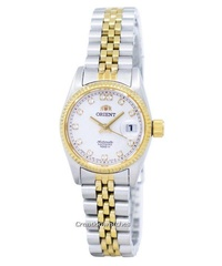 Orient Oyster Automatic Diamond Accent Women's Two Tone Stainless Steel Bracelet Watch SNR16002W