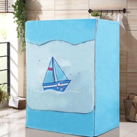 Roller Waterproof Washing Machine Cover Haier Midea Panasonic Sanyo LG Universal Fully Automatic Sun-resistant Dust Cover