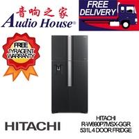 HITACHI R-W690P7MSX-GGR 531L 4 DOOR FRIDGE *** 1 YEAR HITACHI WARRANTY *** FREE DELIVERY !