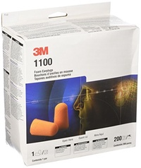 3M 3M 1100 Foam Ear Plugs, 200-Pair