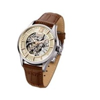 Arbutus Men's Leather Strap Watch AR901SIF