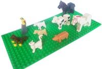 discount Zoo Farm life Animal pig cat monkey cow horse bird farmland accessory bricklink building bl