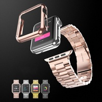 New Arrival Simpsons Style Rose Gold Snap-on Defense Edge Screen Protector Cover Cases for Apple Wat