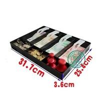 四格收銀盒子收銀箱零錢收納盒超市現金盒存錢盒抽屜分類錢盒 歐韓時代
