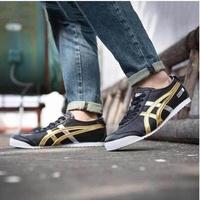 Onitsuka Tiger รองเท้า ผ้าใบ ลำลอง ชาย หนังแท้โอนิซึกะ ไทเกอร์ Mexico 66 Black Metallic Gold ++ของแท้100% พร้อมส่ง ส่งไวทุกวัน