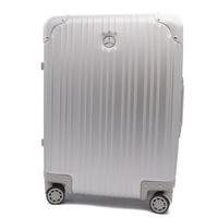 有新貨未使用的展覽品Mercedes Benz梅賽德斯賓士鋁旅行箱提包銀子鎖頭 3R boutique