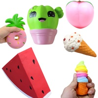 2019 Kawaii Lovely Animal Cream Squishy Charm Slow Rising Slow Rising Toy Office Gadgets Interesting Toys Gifts anti-stress